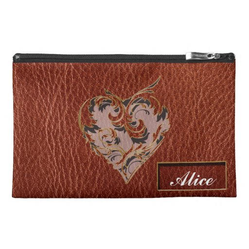 Leather-Look Valentine Soft Travel Accessories Bag