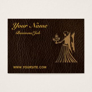Leather-Look Virgo Business Card