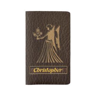 Leather-Look Virgo Large Moleskine Notebook