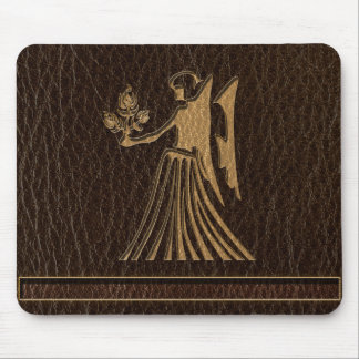 Leather-Look Virgo Mouse Pad