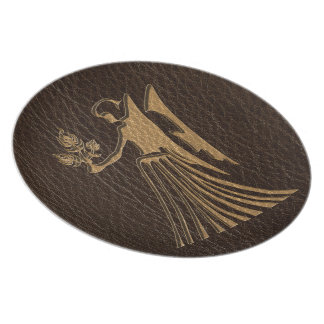 Leather-Look Virgo Plate
