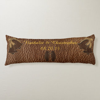 Leather-Look Wedding Body Pillow