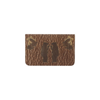 Leather-Look Wedding Business Card Holder
