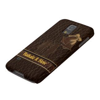 Leather-Look Wedding Dark Case For Galaxy S5