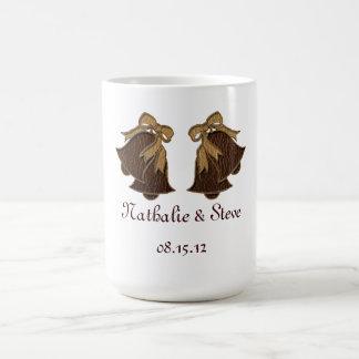 Leather-Look Wedding Dark Coffee Mug