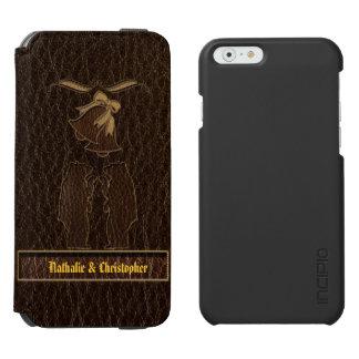 Leather-Look Wedding Dark iPhone 6/6s Wallet Case
