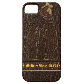 Leather-Look Wedding Dark iPhone SE/5/5s Case