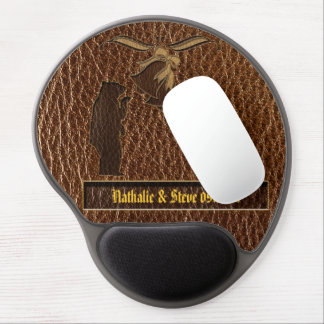 Leather-Look Wedding Gel Mouse Pad