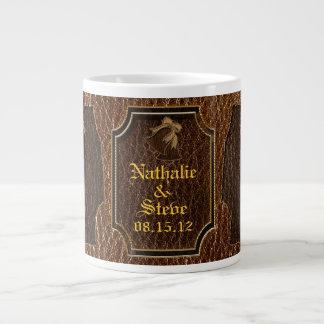 Leather-Look Wedding Giant Coffee Mug