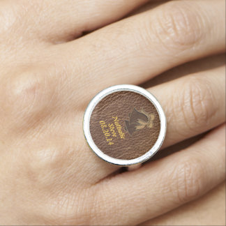 Leather-Look Wedding Ring
