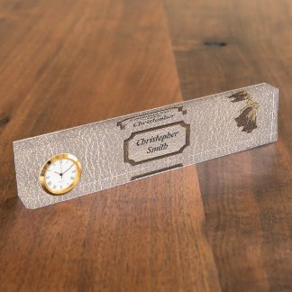 Leather-Look Wedding Soft Desk Name Plate
