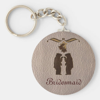 Leather-Look Wedding Soft Keychain