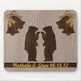 Leather-Look Wedding Soft Mouse Pad