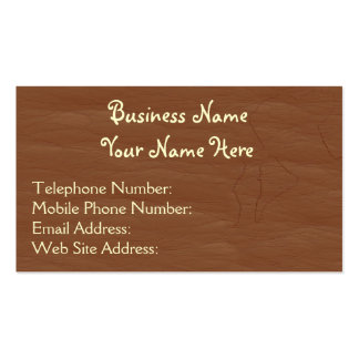 Leather-look Western style 7 Business Cards