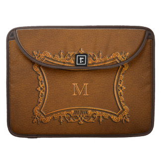 Leather look with customizable Monogram Sleeve For MacBooks