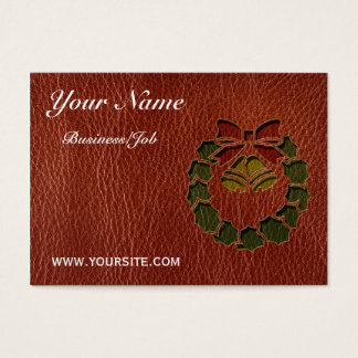 Leather-Look Wreath Business Card