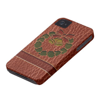 Leather-Look Wreath iPhone 4 Case