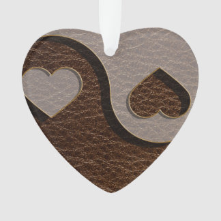 Leather-Look Yin Yang Heart Dark Ornament