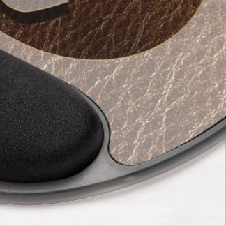 Leather-Look Yin Yang Heart Soft Gel Mouse Mat