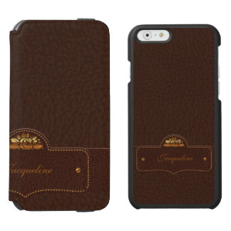 Leather Luxury Name iPhone 6/6s Wallet Case
