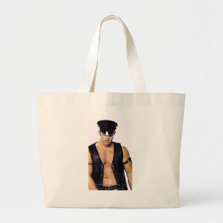 Leather Man Tote Bag
