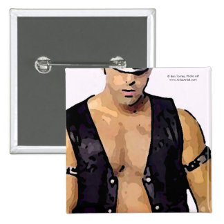 Leather Man Pinback Buttons