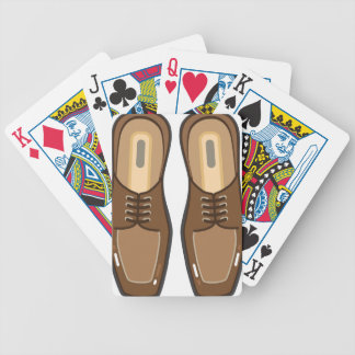 Leather Man's shoes Bicycle Playing Cards