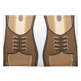 Leather Man's shoes Placemat