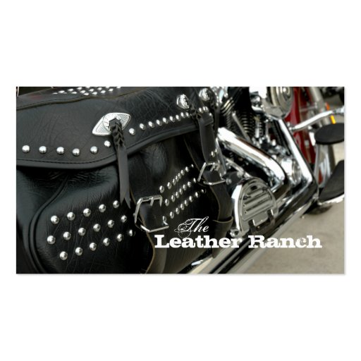 Leather Motorcycle Business Card