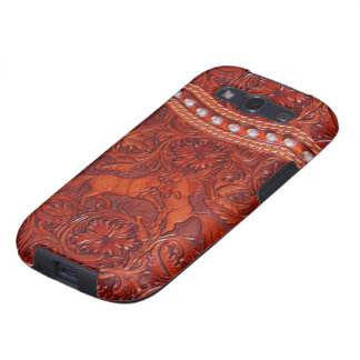 Leather mustangs samsung galaxy case galaxy s3 case