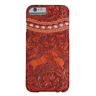 leather mustangs with silver beading iPhone 6 case