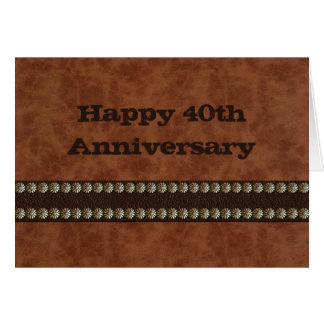 Leather on Leather Greeting Cards