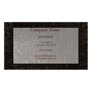 Leather Paisley Business Card