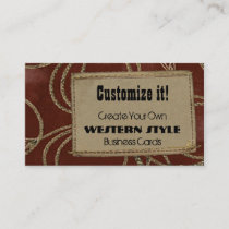 Leather Patch & Rope Business Card