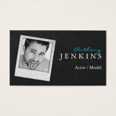 Leather Photo Frame Actor Business Cards at Zazzle