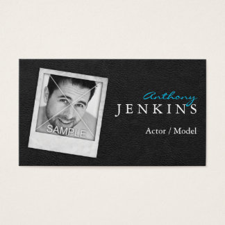 Leather Photo Frame Actor Business Cards