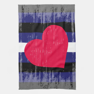 LEATHER PRIDE DISTRESSED DESIGN KITCHEN TOWELS
