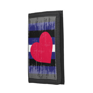 LEATHER PRIDE DISTRESSED DESIGN -.png Tri-fold Wallets