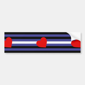 Leather Pride Flag Bumper Sticker