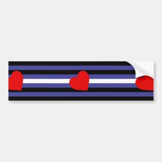 Leather Pride Flag Bumper Sticker