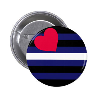 Leather Pride Flag Button