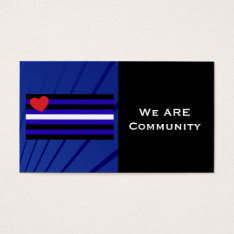 Leather Pride Flag Community Card at Zazzle