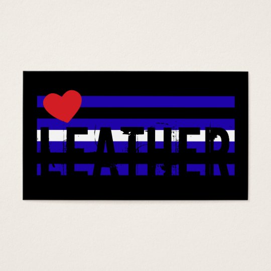 Leather Pride Flag Contact Card