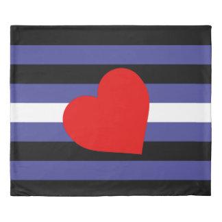 Leather Pride Flag Duvet Cover
