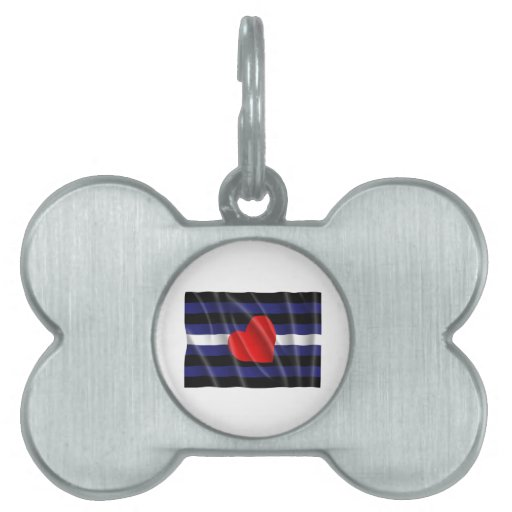 LEATHER PRIDE FLAG FLYING PET TAG