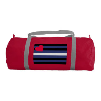 Leather Pride Flag Gym Duffel Bag