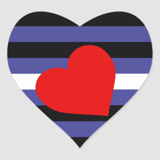 Leather Pride Flag Heart Sticker