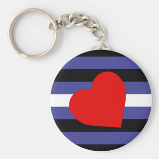 Leather Pride Flag Keychain