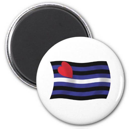 Leather Pride Flag Magnet