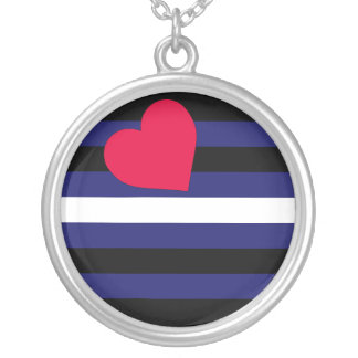 Leather Pride Flag Necklace